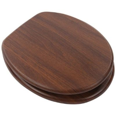 Walnut / Dark Wood Effect Toilet Seat - 02015823